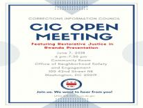 CIC June 2018 Open Meeting Flyer