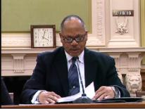 Former CIC Board Member Samuel Whittaker testifying on Feb. 19, 2015